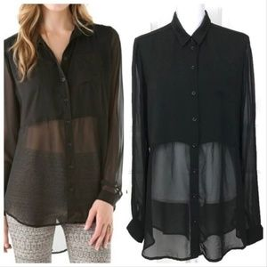 Free people black sheer tunic